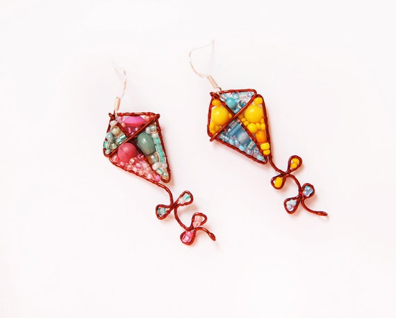 Fly a Kite Beaded Earrings- MADE TO ORDER