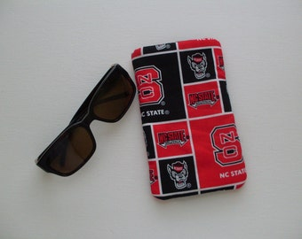 Eyeglass Case in NC State fabric