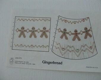 Gingerbread smocking design by Mollie Jane Taylor