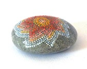Salem berry / Hand painted stone by Circle and the dot