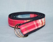 Women's Patch Madras Webbed Belt