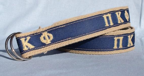 Custom Embroidered Greek Letter Belt