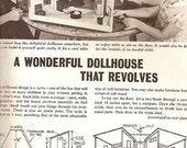 1961 Things to Make For Children Sunset book MID CENTURY MODERN dollhouse toys