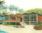 MID CENTURY MODERN Vacation home plans A-Frames house design book