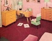 1946 MID CENTURY MODERN home decorating Rockow book Heywood Wakefield furniture