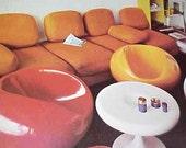 1971 HUGE SPACE AGE Mod Modern Furniture Decoration mid century book Harling
