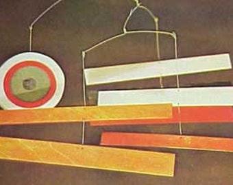 1969 Making Mobiles book Moorey MID CENTURY MODERN mobile design