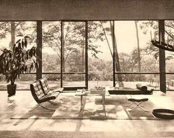 1952 Built in USA Post War Architecture book MID CENTURY modern house design