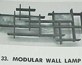 1969 Designs in Wood book Piepenburg MID CENTURY MODERN furniture design plans build