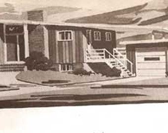 1979 MID CENTURY MODERN house plans 250 Home Plans book Chirgotis