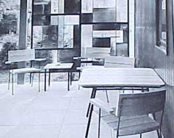 1960 MID CENTURY MODERN decorating book Art of Interior Design