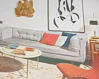 1956 MID CENTURY MODERN decorating book Better Homes Gardens 432 pg