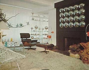 1977 MID CENTURY Space Age Mod Decorating for Modern Living book Hatje