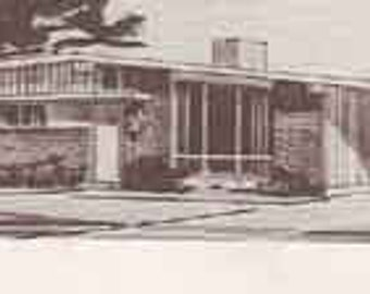 MID CENTURY MODERN House Plans book ranch home plans