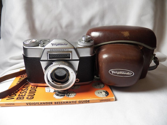 HOT Deal- Vintage Camera- Voigtlander- Voigtländer Bessamatic 35mm SLR Body With Case-Working Camera- Germany-