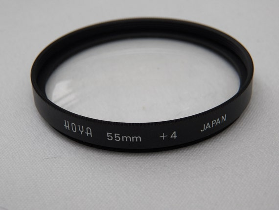 Vintage Hoya 55mm Plus 2 Close Up Filter For Camera Lenses - Screw Fit- Accessory- Attachment- Equipment