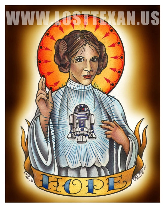 "Princess Leia ""Hope"" Art Print"