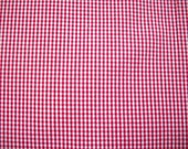 Red Gingham Cotton Broadcloth Yardage