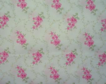 Pink Trellis Cotton Broadcloth Yardage