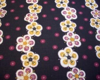 Plum Blossoms Japanese Cotton Fabric Yardage