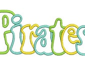 Pirates Applique, Pirates Embroidery Design (43) Instant Download