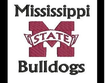 MSU, MSU Bulldogs Embroidery Design, Mississippi Bulldogs (25) Instant Download