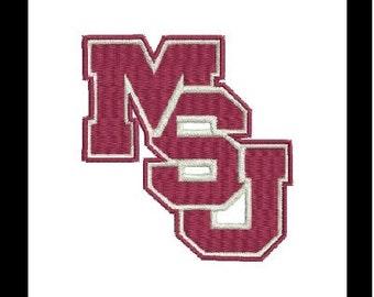 MSU, MSU Bulldogs Embroidery Design, Mississippi Bulldogs (26) Instant Download
