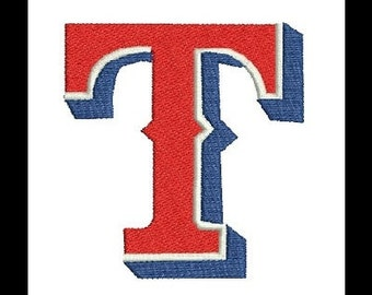Texas Rangers Embroidery Design (27) Instant Download