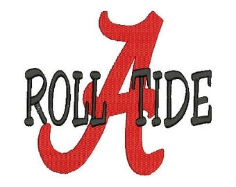 Alabama A, Roll Tide, Embroidery Design (29) Instant Download