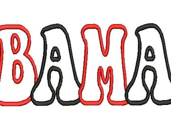 Alabama A, AL, Bama Applique, Embroidery Design (34) Instant Download