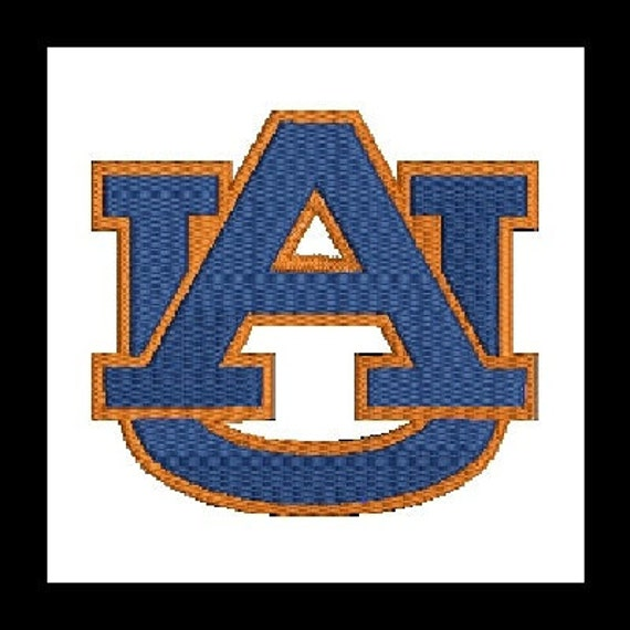 Auburn Embroidery Design (15) Instant Download