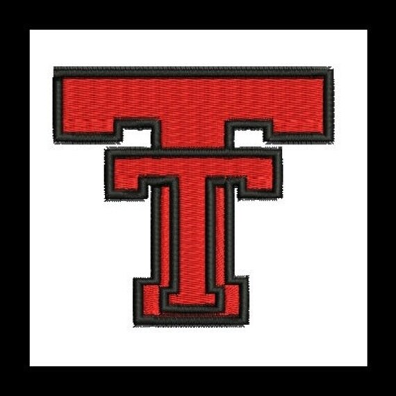 Texas Tech Embroidery Design (20) Instant Download