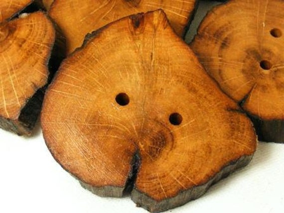 Handmade wood buttons, made from 1700yr. old Irish Oak tree 45/50mm