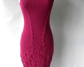Sue Wong Vintage Fuschia /Knit Lined Dress On Sale
