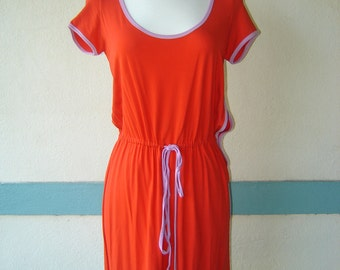 Iceberg Dress in Silk, Popsicle Vintage 80's Style