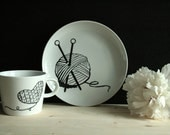 Knitting Set - Cup and Plate