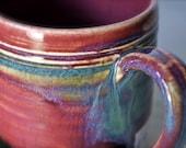 ceramic coffee mug-merlot glaze