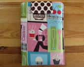Fabric eReader Sleeve Cover Case, in Kiss the Chef