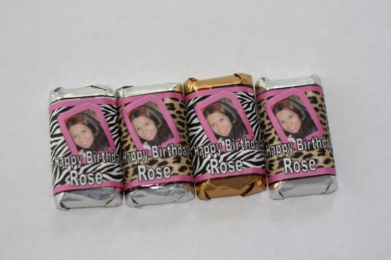 Personalized mini Hershey candy bar wrappers - 100 wrappers - Free Shipping
