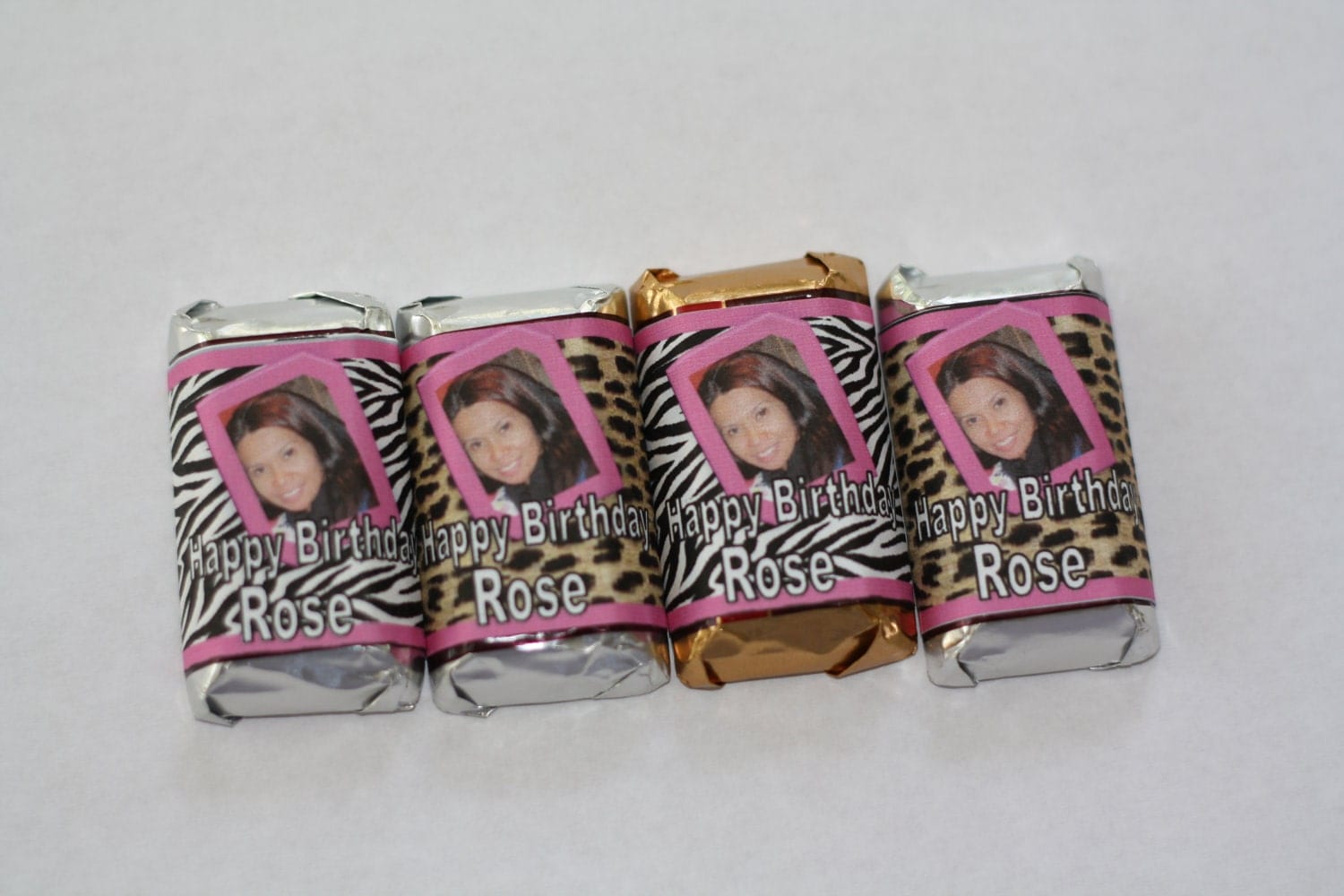 Personalized Mini Hershey Candy Bar Wrappers 100 Wrappers