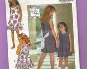 Butterick 6091 Fast and Easy Girls Dress pattern 4-6