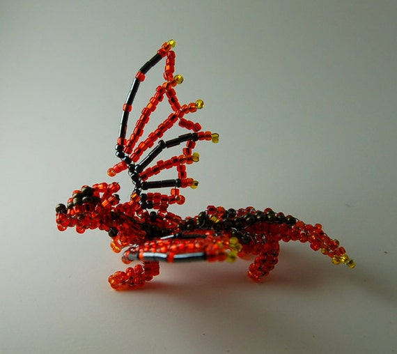 Fire Red and Silver Dragon 3D