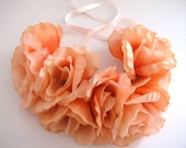 Peach Floral Headband / Headpiece with 9 Lovely Flowers