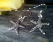 Earrings Silver Starfish Charms