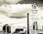 Downtown Durham Cityscape- Durham, North Carolina-Black & White-Urban-Fine Art Photography-Other Sizes Available