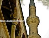 Hagia Sophia Minaret 3-Istanbul,Turkey-Color-Window-World Wonder-Architecture-multiple Sizes Available-Sky-Clouds-Fine Art Photography