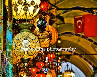Lanterns at the Grand Bazaar-Istanbul, Turkey-Travel Photography-multiple Sizes Available-Fine Art Photography-Gift