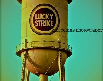 Lucky Strike Tower Durham, North Carolina-Fine Art Photography-Color-multiple Sizes Available-Landscape-Turquoise-Urban