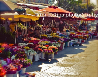 Flowers for Sale-Istanbul,Turkey-Multiple Sizes Available-Floral-Botanical-Colorful-Flower Market-Fine Art Photography
