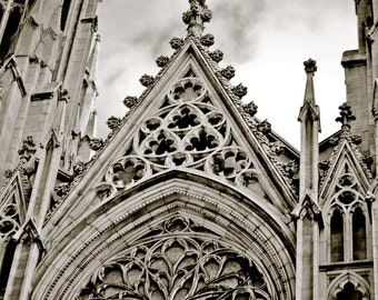 Saint Patrick's Cathedral 2 New York City-multiple Sizes Available-Church-Black and White-Cityscape-Fine Art Photography